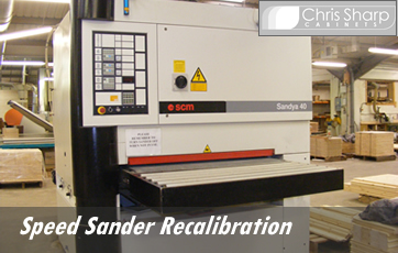 Speed Sander recalibration
