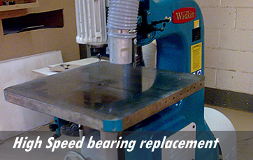 High Speed bearing replacement
