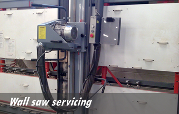 Wall saw servicing